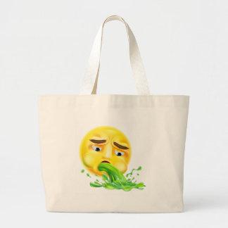 Emoticon el vomitar Emoji Bolsa Tela Grande