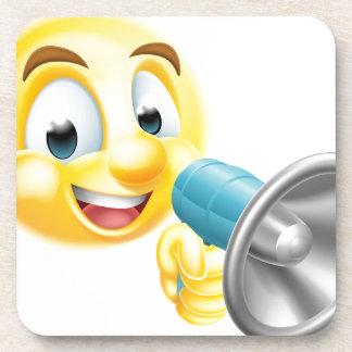 Emoticon Emoji Holding Mega Phone Coaster