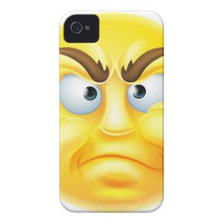 Emoticon enojado o de desaprobación Emoji iPhone 4 Case-Mate Carcasas