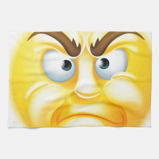 Emoticon enojado o de desaprobación Emoji Toalla De Cocina