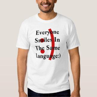 Emoticon Everyone Smiles In the Same Language Tee Shirt