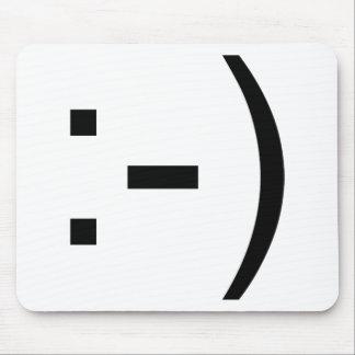 ¡Emoticon feliz de la cara! Mouse Pads