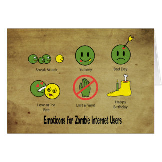 Emoticon for Zombie Internet users Card