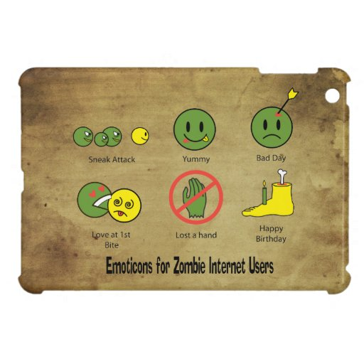 Emoticon for Zombie Internet users iPad Mini Cases