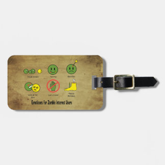 Emoticon for Zombie Internet users Luggage Tag
