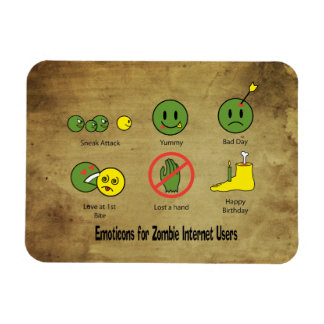 Emoticon for Zombie Internet users Magnet
