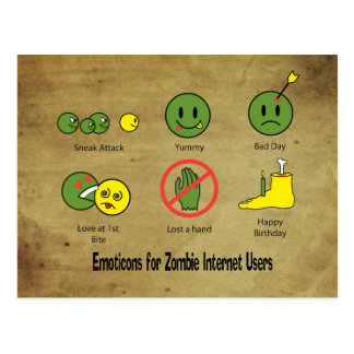 Emoticon for Zombie Internet users Postcard