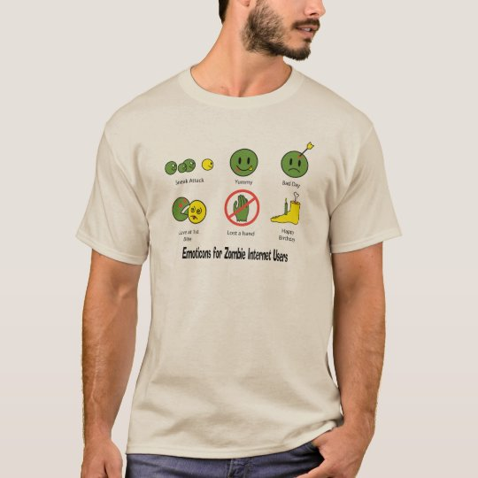 Emoticon for Zombie Internet users T-Shirt