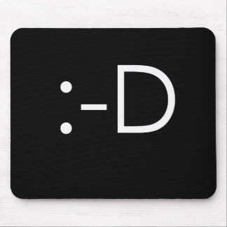 Emoticon - grin mouse pad