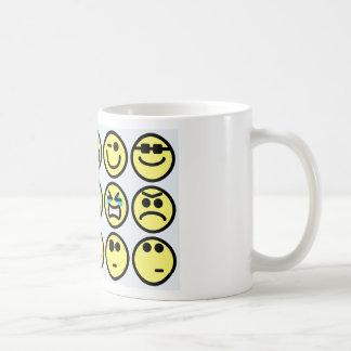 emoticon happy face coffee mug