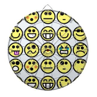 emoticon happy face dart board