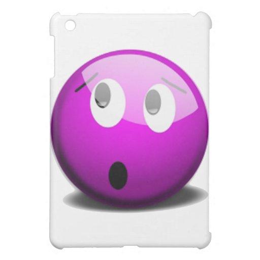Emoticon hecho frente púrpura
