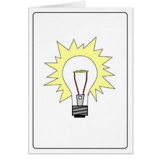 Emoticon - Lightbulb Card