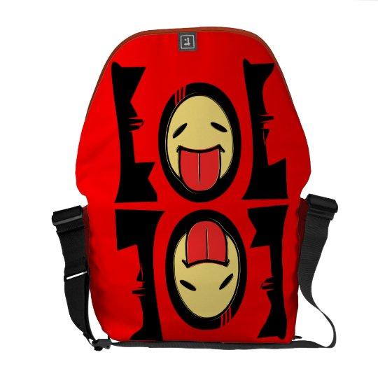☺Emoticon-LOL Rickshaw Comic Messenger Bag☺ Courier Bag