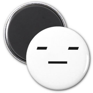 Emoticon: Not Amused 2 Inch Round Magnet