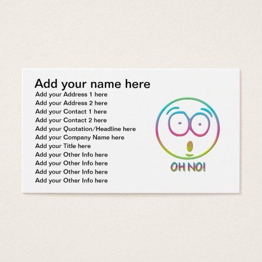 "Emoticon ""Oh no!"" Business Card"