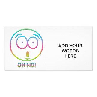 """Emoticon """"Oh no!"""" Card"""