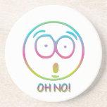 """Emoticon """"Oh no!"""" Coaster"""