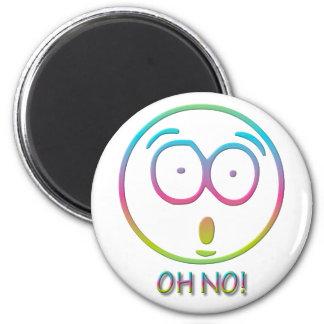 """¡Emoticon """"oh no! """" Imán Redondo 5 Cm"""