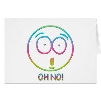 """¡Emoticon """"oh no! """" Tarjeta De Felicitación"""