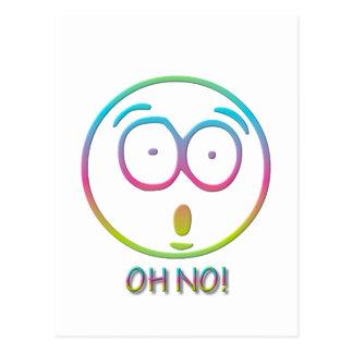 """¡Emoticon """"oh no! """" Postal"""