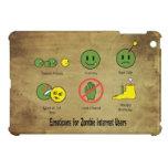 Emoticon para los usuarios de internet del zombi iPad mini fundas