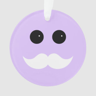 Emoticon púrpura del smiley del bigote