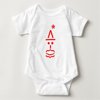 EMOTICON SANTA WITH BEARD AND HAT BABY BODYSUIT
