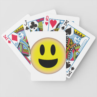 EMOTICON SMILEY FACE BE HAPPY :) BICYCLE PLAYING CARDS