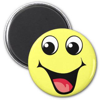 Emoticon sonriente feliz imán de frigorífico