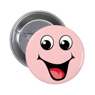 Emoticon sonriente feliz pin