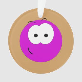Emoticon sonriente púrpura