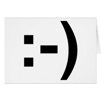 Emoticon sonriente tarjeta de felicitación