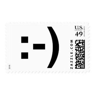 Emoticon sonriente timbre postal