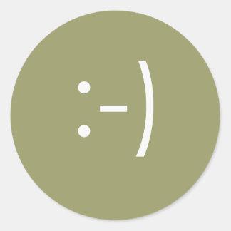 Emoticon - sonrisa etiqueta redonda