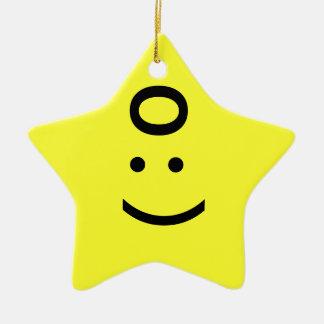 Emoticon Star Ornament - Angel / Devil