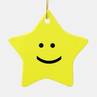 Emoticon Star Ornament - Smile