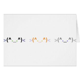 """""""Emoticon"""" tarjeta LINDA de 3 GATOS - diseño horiz"""