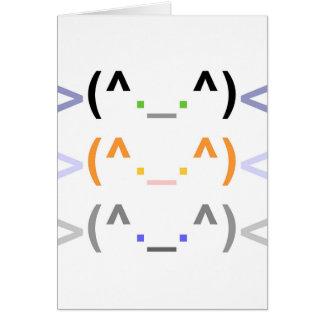"""¡""""Emoticon"""" tarjeta LINDA de 3 GATOS! - Diseño ver"""