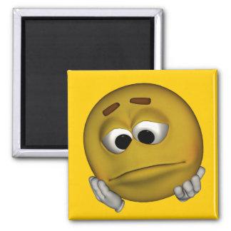 Emoticon triste imanes