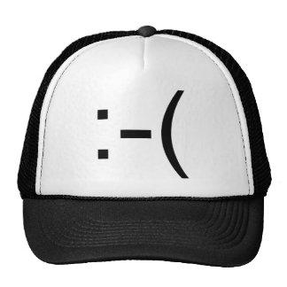 ¡Emoticon triste! ¡productos del friki! Gorra