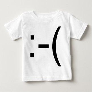 ¡Emoticon triste! ¡productos del friki! Playera De Bebé