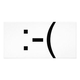 ¡Emoticon triste! ¡productos del friki! Tarjetas Personales Con Fotos