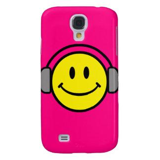 Emoticon With Headphones Galaxy S4 Cover