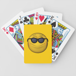 Emoticon With Sunglasses Bicycle Playing Cards