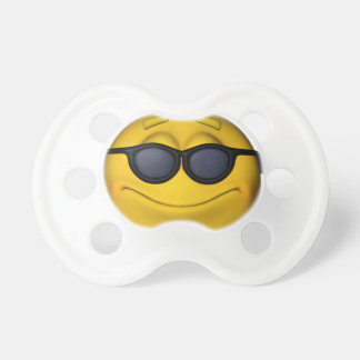 Emoticon With Sunglasses Pacifier