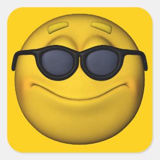 Emoticon With Sunglasses Square Sticker