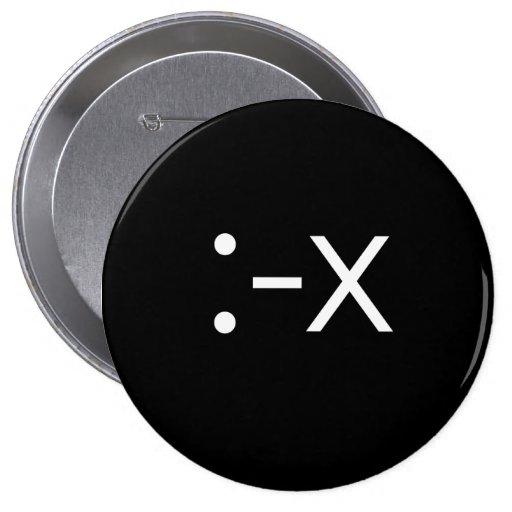 Emoticon - x pin redondo 10 cm