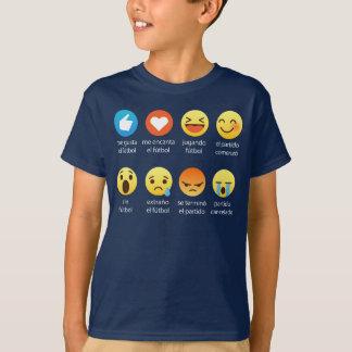 Emoticonos Graciosos de Futbol (I Love Soccer) T-Shirt