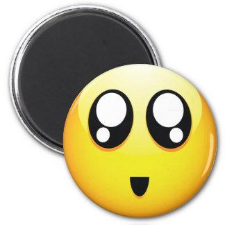 Emoticons adorables imán redondo 5 cm